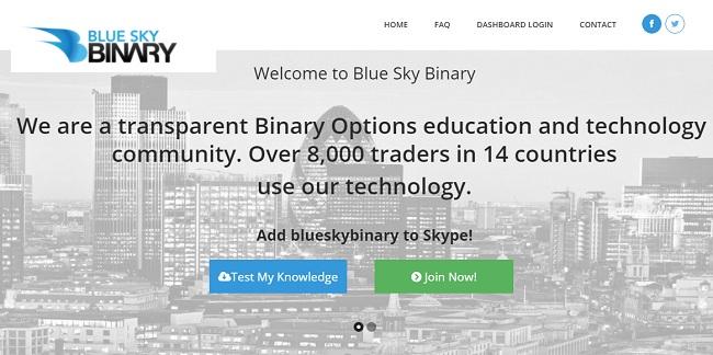 Blue Sky Binary Trading University