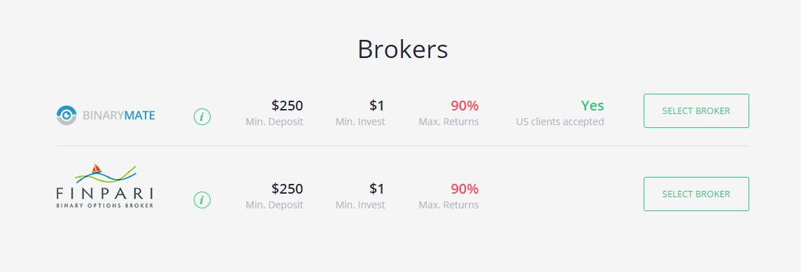 Bin Bot Pro Brokers